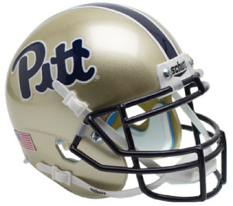 Pittsburgh Panthers Mini XP Authentic Helmet Schutt <B>Script</B>