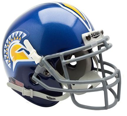 San Jose State Spartans Mini XP Authentic Helmet Schutt