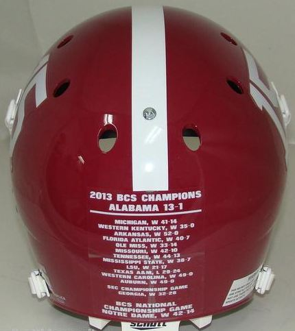 Alabama Crimson Tide 2012 BCS National Champions Authentic College XP Football Helmet Schutt
