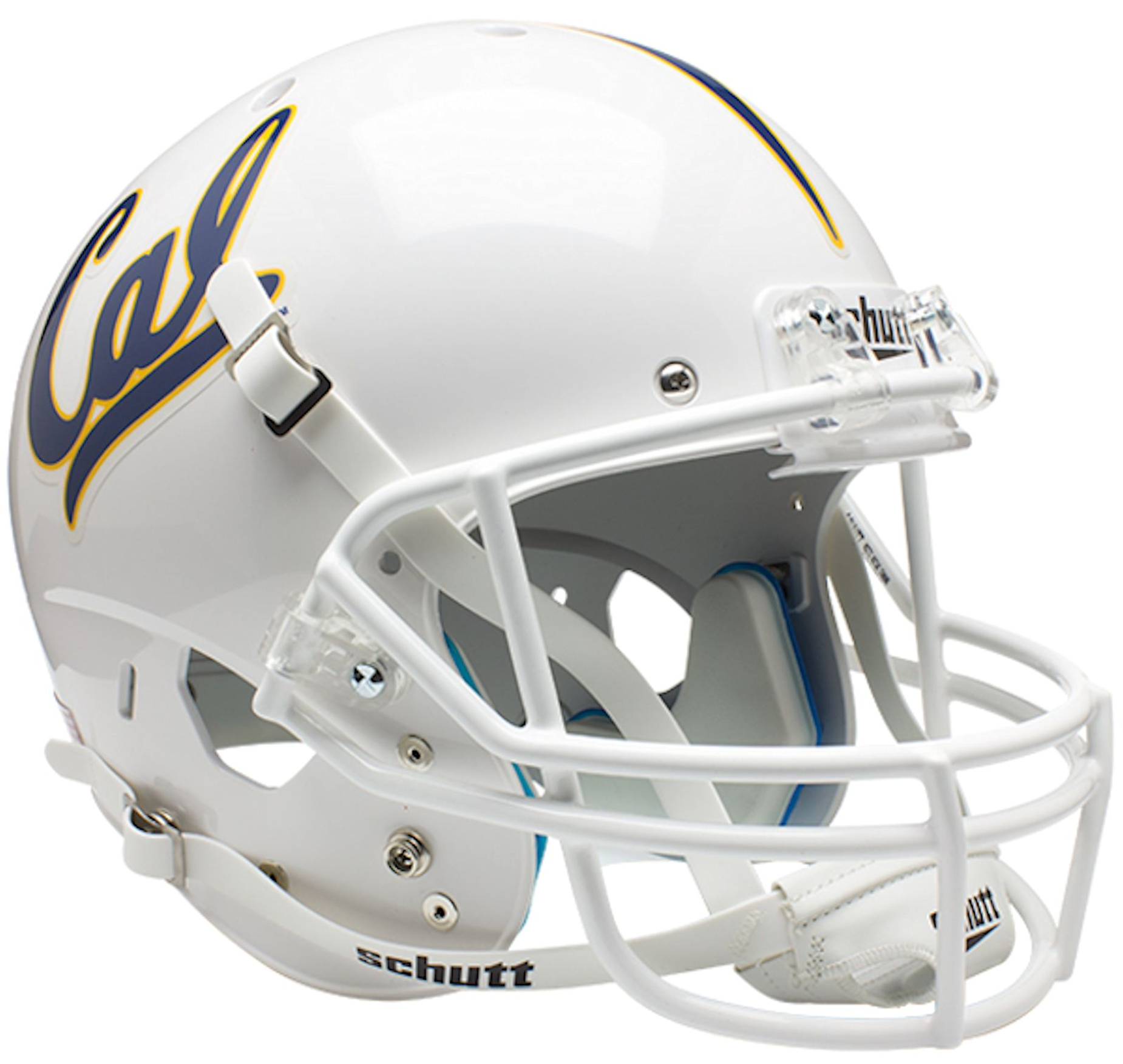 California (CAL) Golden Bears Full XP Replica Football Helmet Schutt <B>White</B>