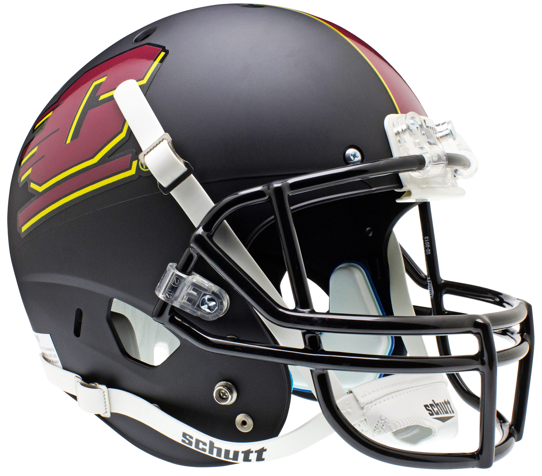 Central Michigan Chippewas Full XP Replica Football Helmet Schutt <B>Matte Black</B>