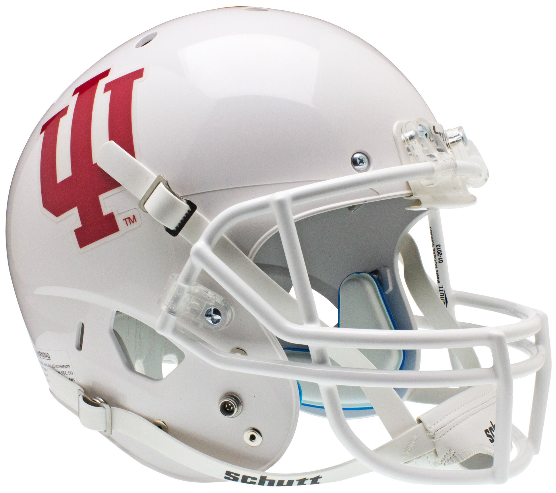 Indiana Hoosiers Full XP Replica Football Helmet Schutt <B>White</B>
