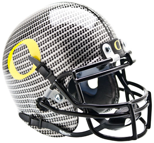 Oregon Ducks Mini Authentic Helmet Schutt <B>Carbon Fiber</B>