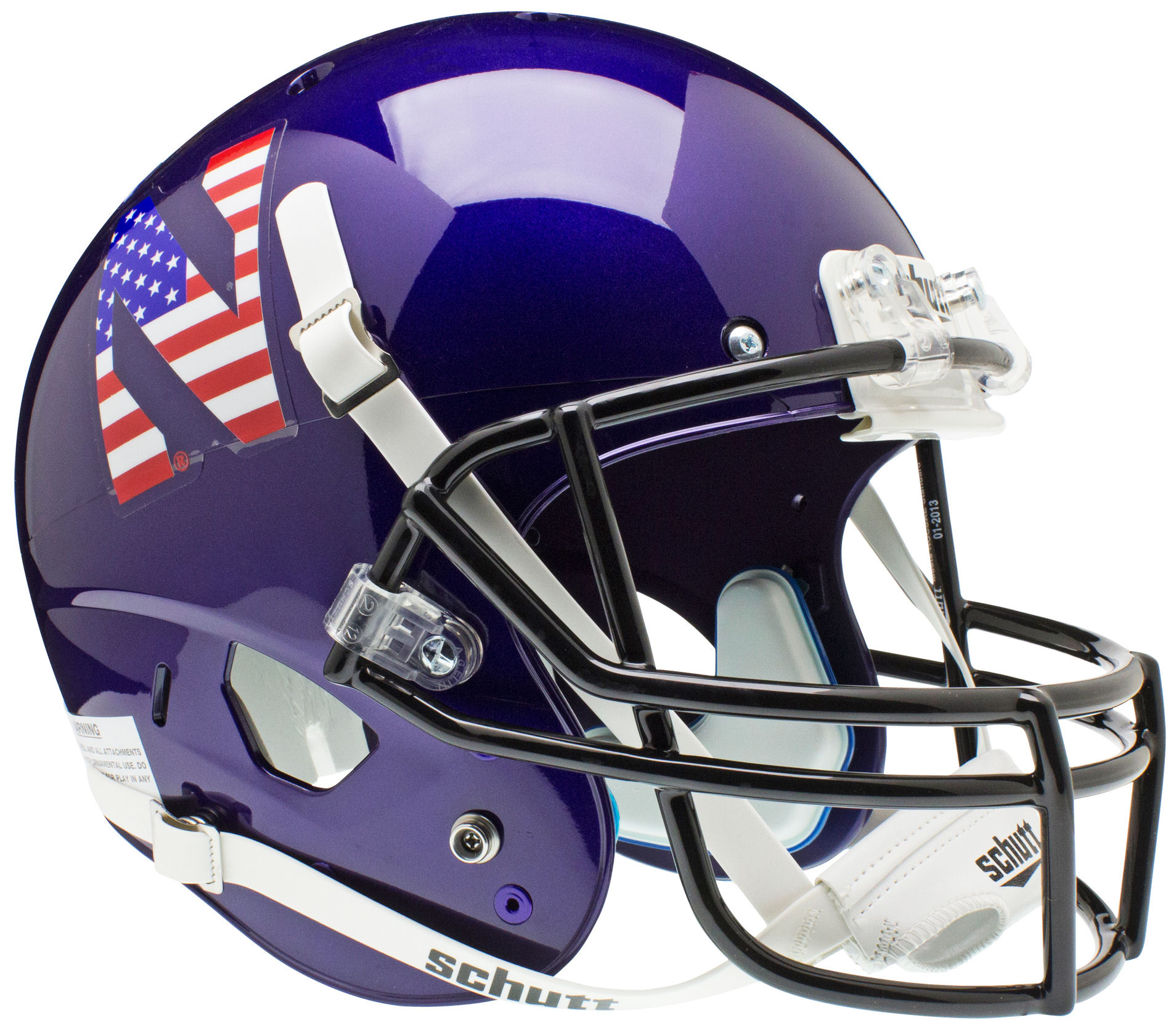 Northwestern Wildcats Full XP Replica Football Helmet Schutt <B>Flag N</B>
