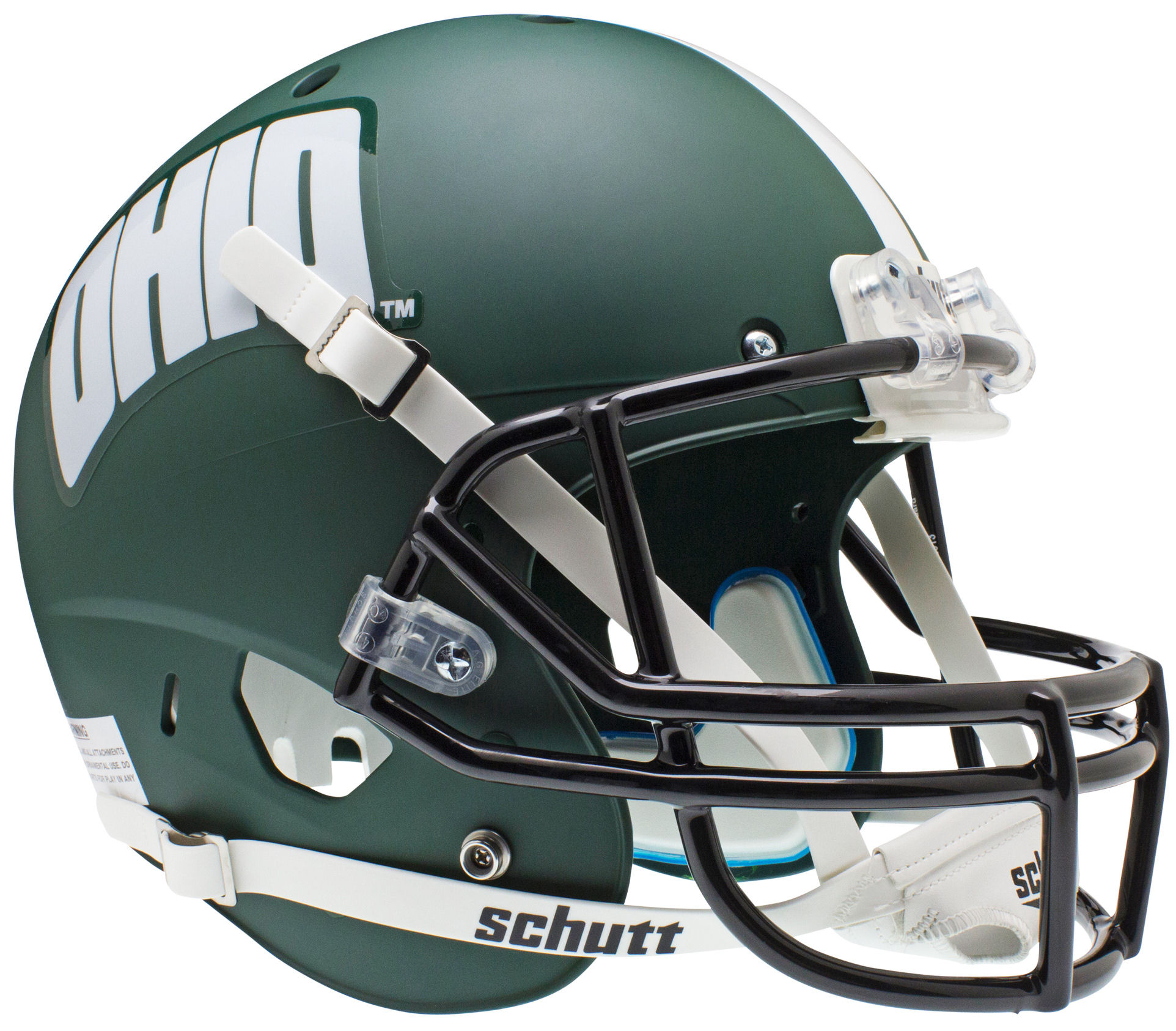Ohio Bobcats Full XP Replica Football Helmet Schutt <B>Matte Green</B>