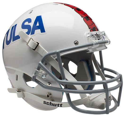 Tulsa Golden Hurricane Full XP Replica Football Helmet Schutt <B>White</B>