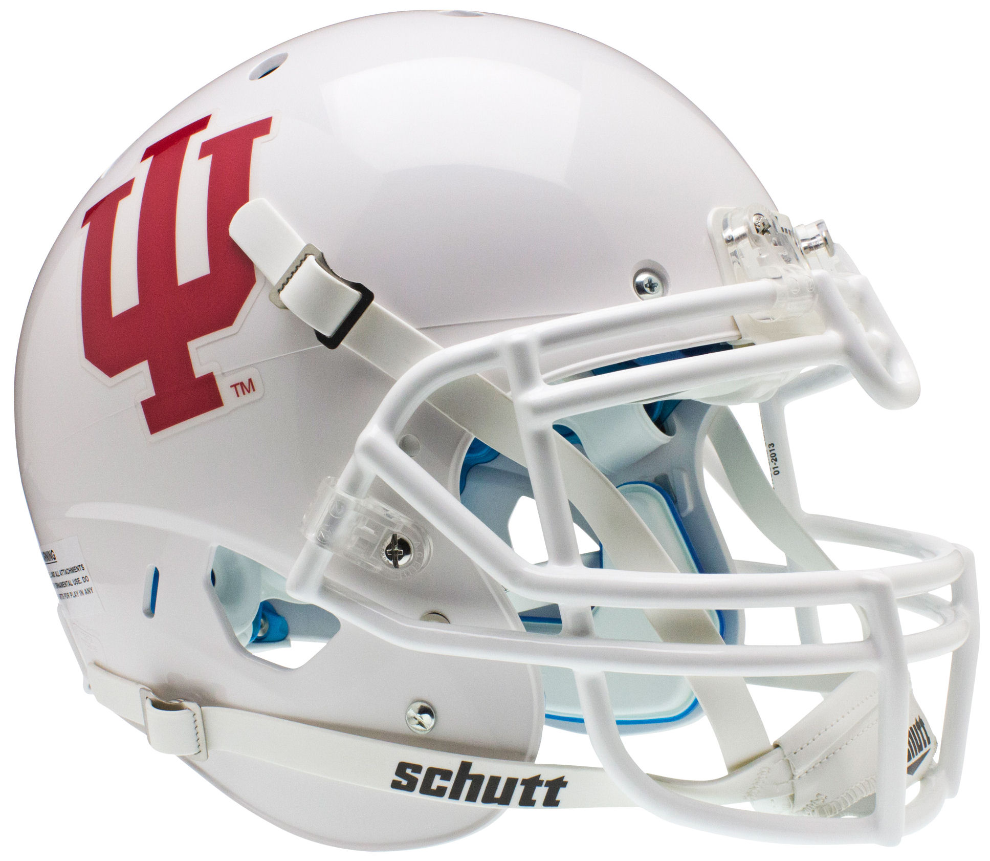 Indiana Hoosiers Authentic College XP Football Helmet Schutt <B>White</B>