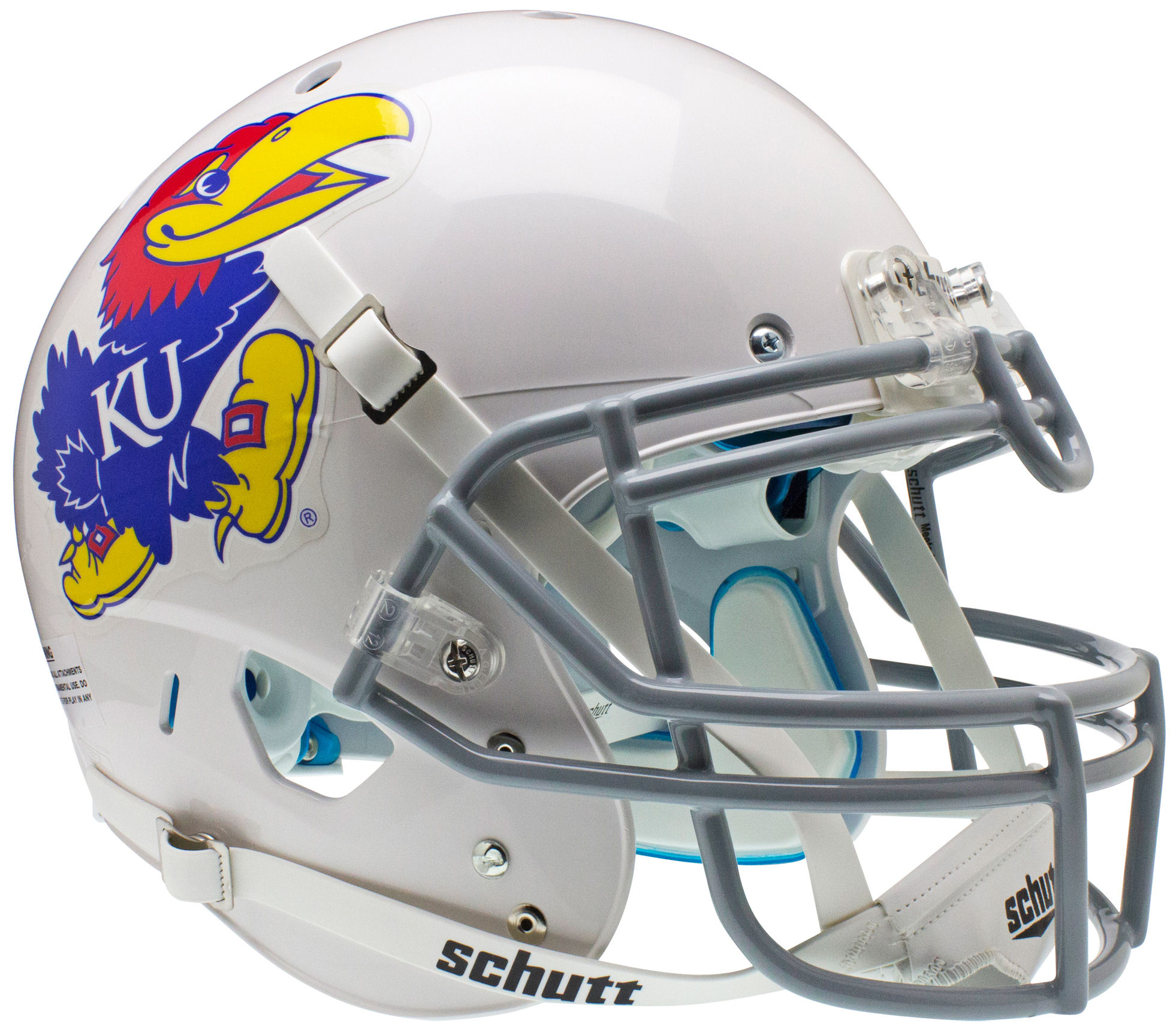 Kansas Jayhawks Authentic College XP Football Helmet Schutt <B>White</B>