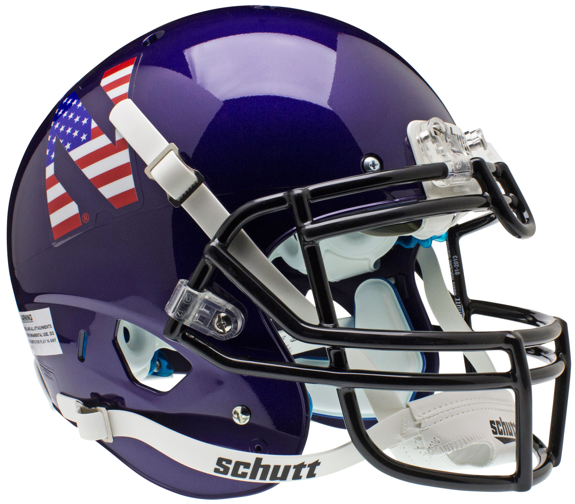 Northwestern Wildcats Authentic College XP Football Helmet Schutt <B>Flag N</B>