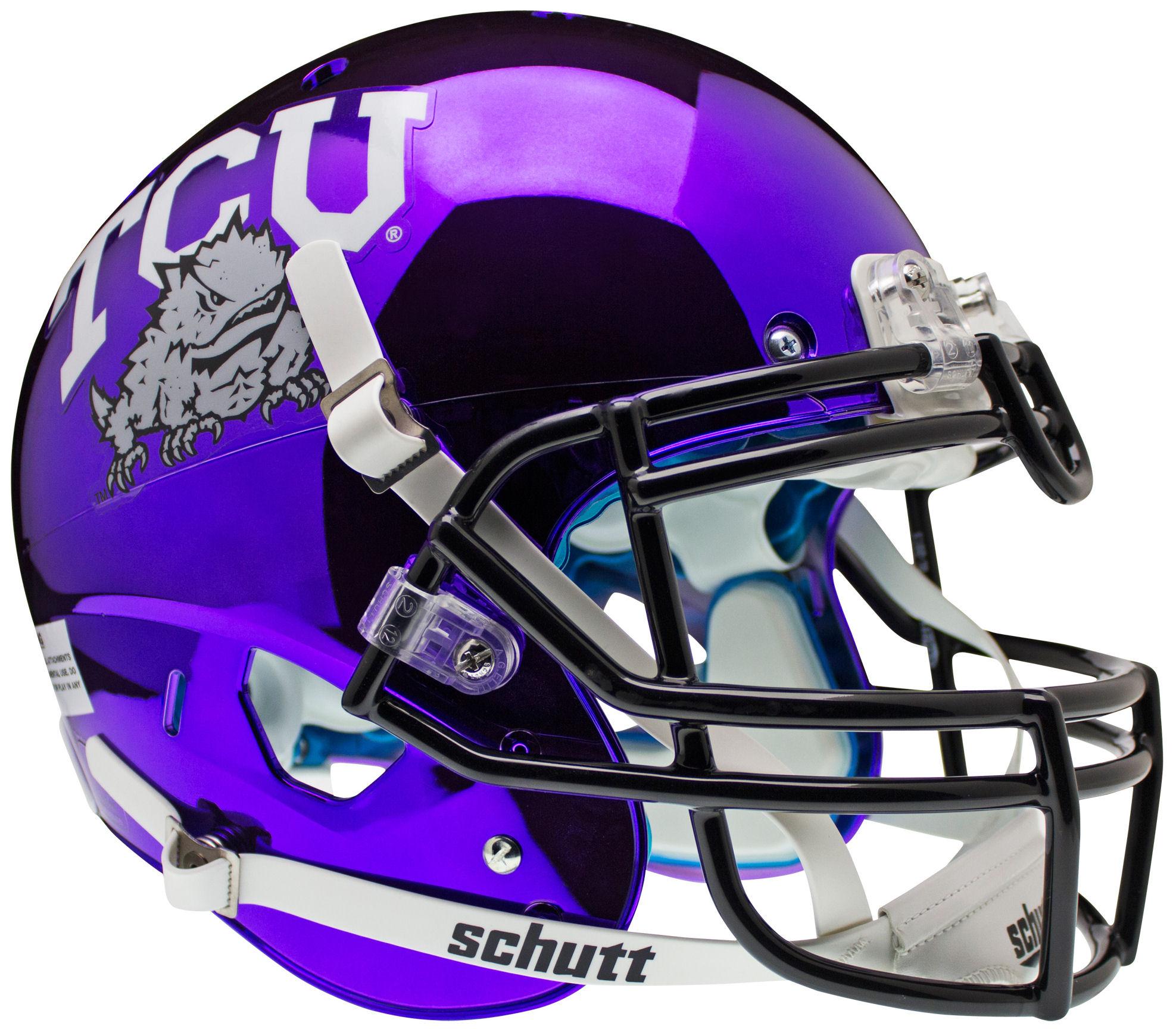 TCU Horned Frogs Authentic College XP Football Helmet Schutt <B>Chrome</B>