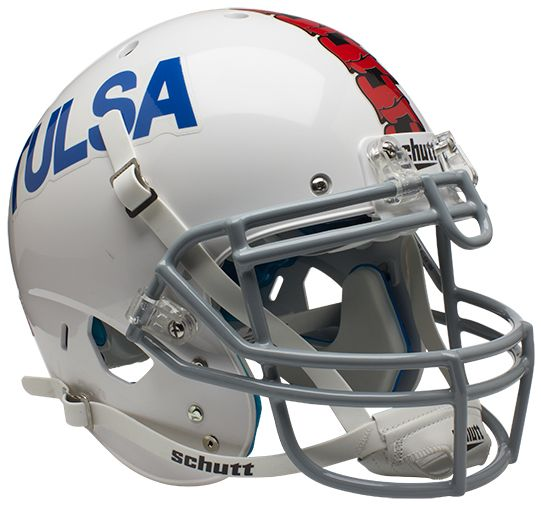 Tulsa Golden Hurricane Authentic College XP Football Helmet Schutt <B>White</B>
