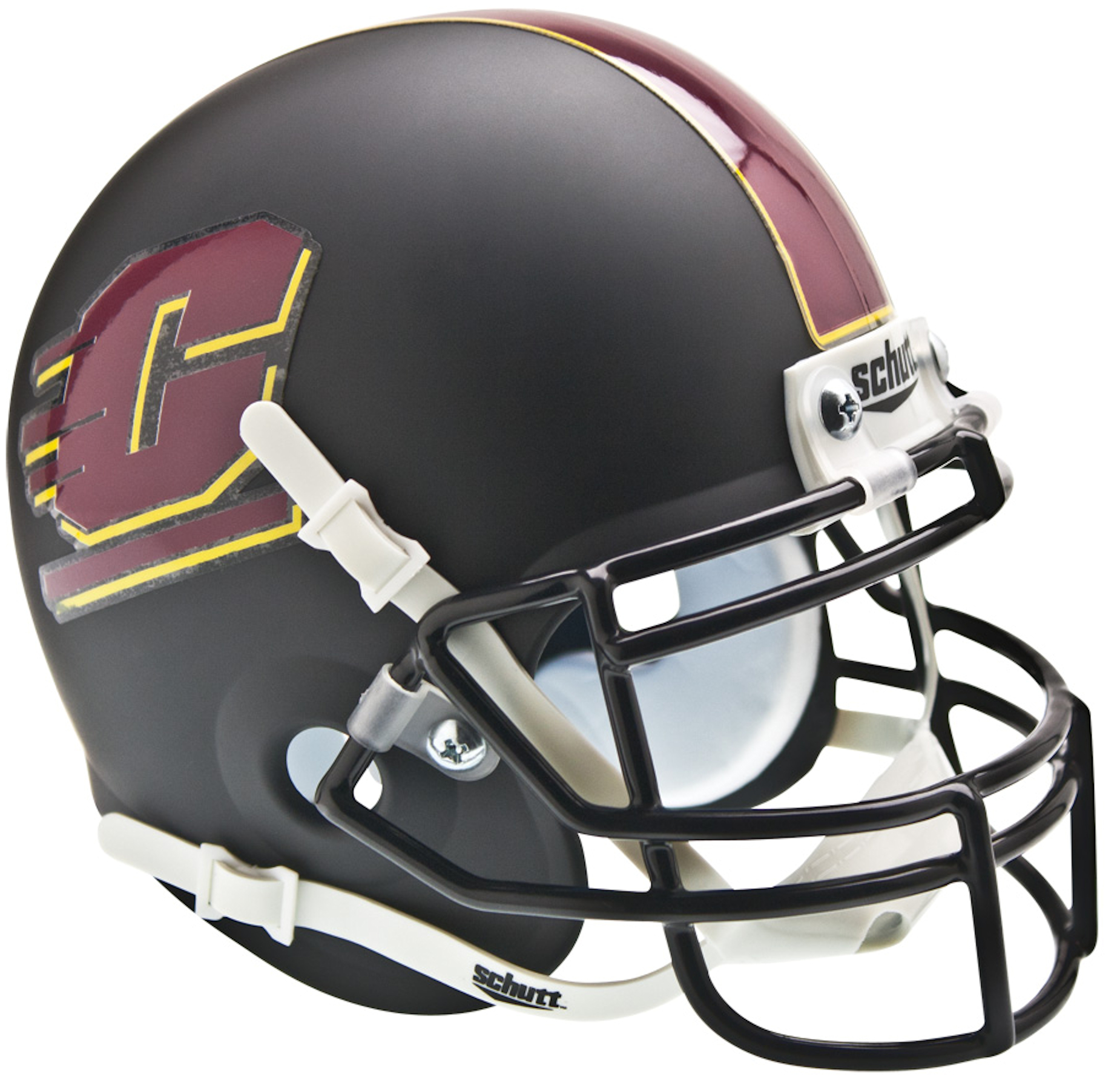 Central Michigan Chippewas Mini XP Authentic Helmet Schutt <B>Matte Black</B>