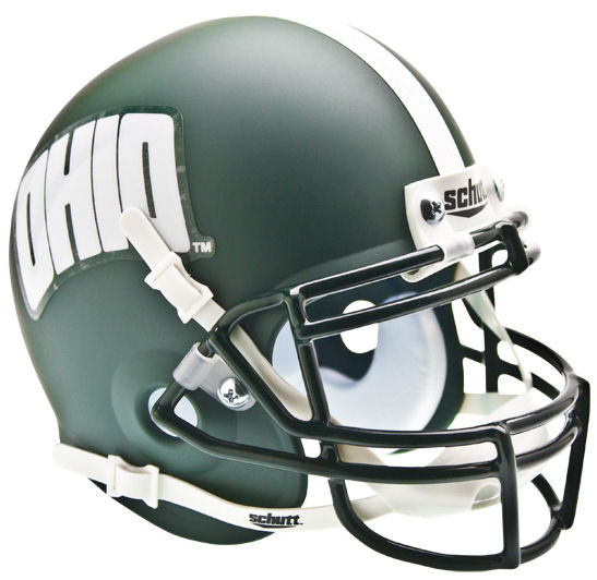 Ohio Bobcats Mini XP Authentic Helmet Schutt <B>Matte Green</B>