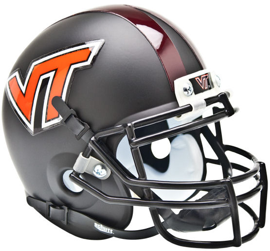 Virginia Tech Hokies Mini XP Authentic Helmet Schutt <B>Matte Black</B>