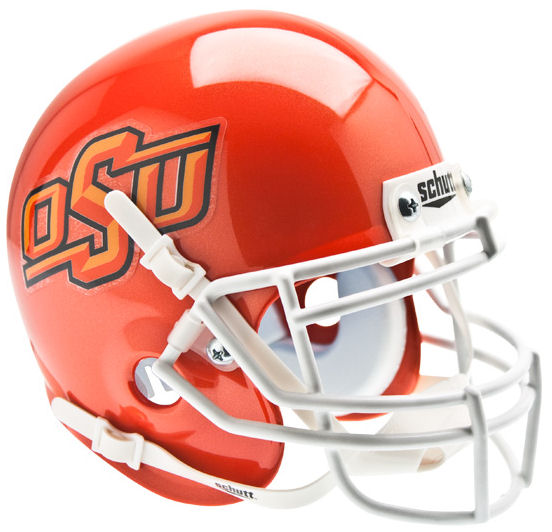 Oklahoma State Cowboys Mini XP Authentic Helmet Schutt <B>Orange</B>