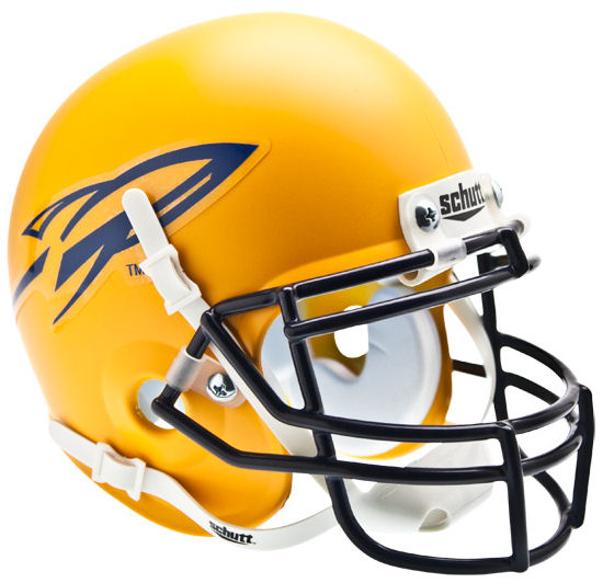 Toledo Rockets Mini XP Authentic Helmet Schutt <B>Matte Yellow</B>