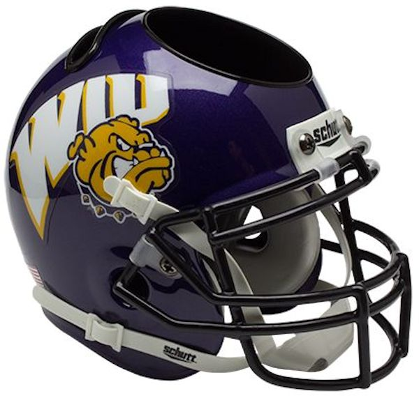 Western Illinois Leathernecks Miniature Football Helmet Desk Caddy
