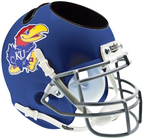 Kansas Jayhawks Miniature Football Helmet Desk Caddy