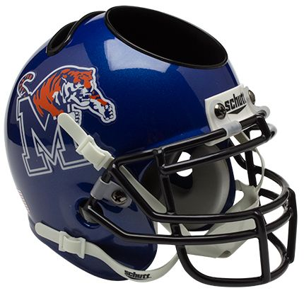 Memphis Tigers Miniature Football Helmet Desk Caddy