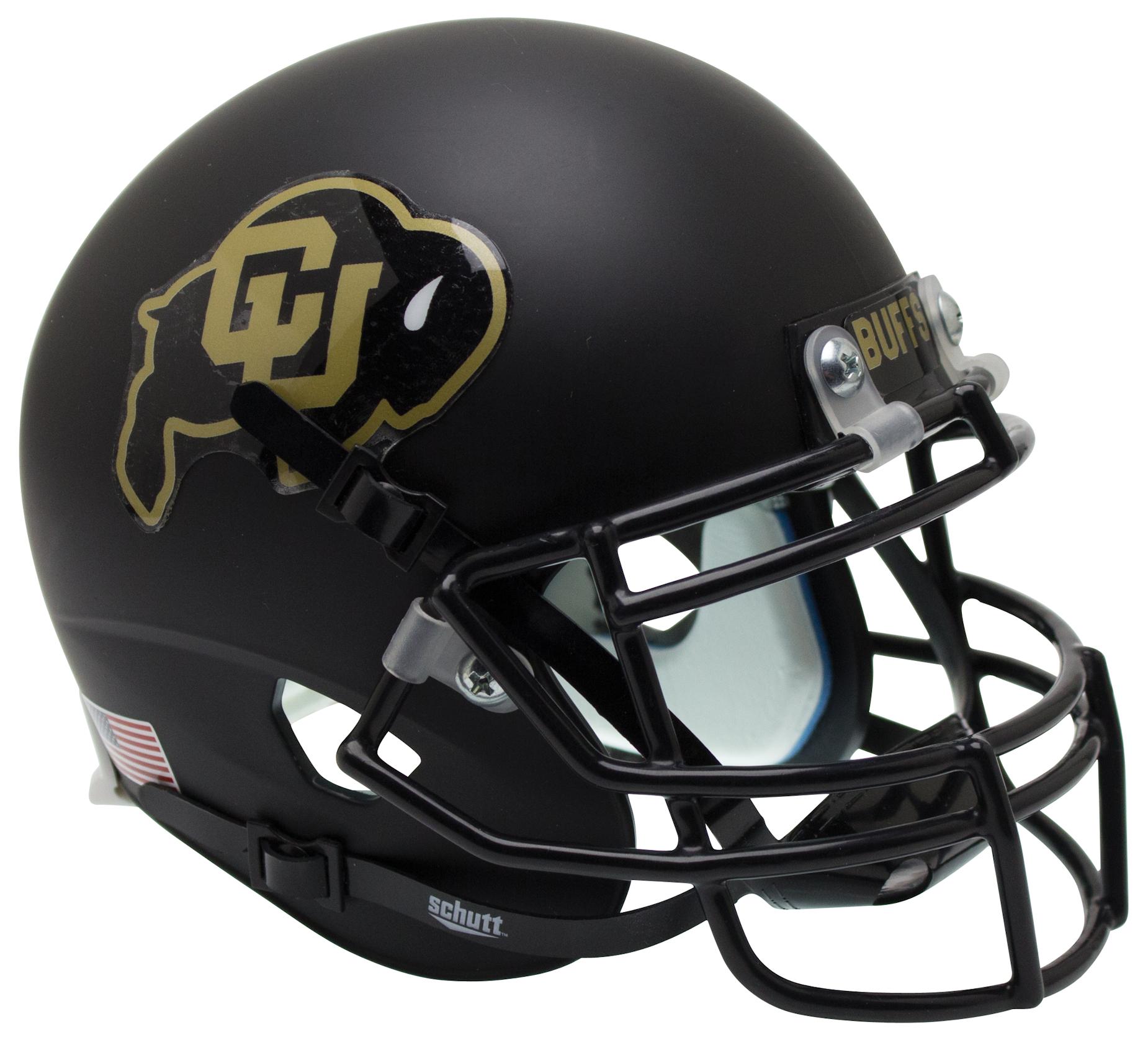 Colorado Buffaloes Authentic College XP Football Helmet Schutt <B>Black</B>