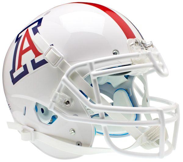 Arizona Wildcats Authentic College XP Football Helmet Schutt <B>White with Stripe</B>