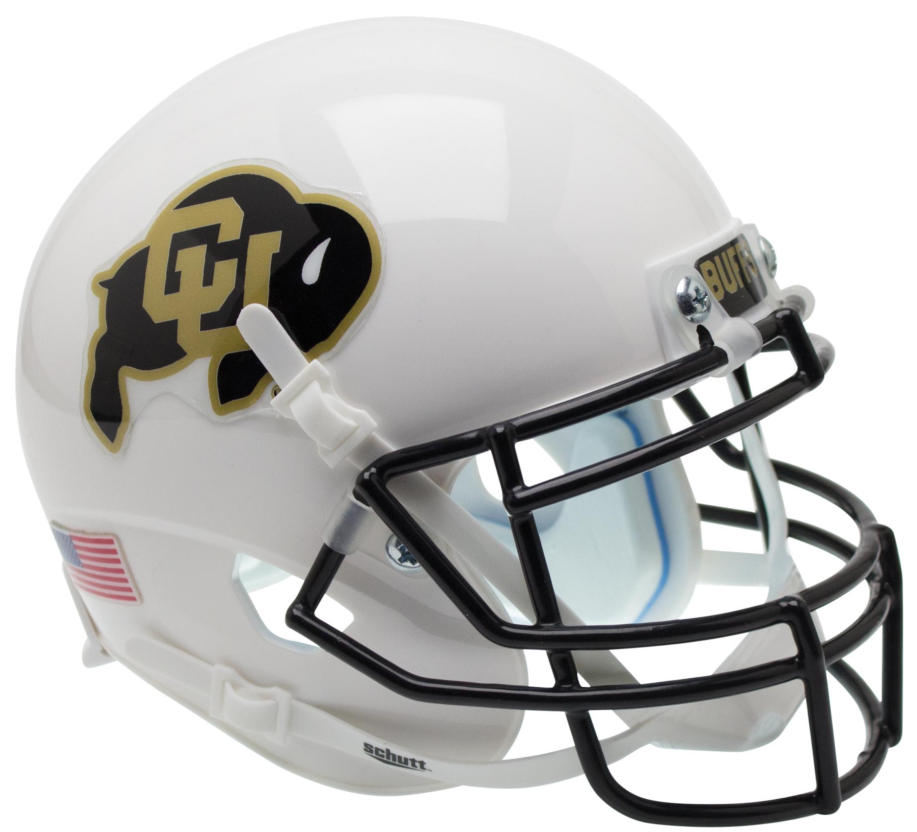 Colorado Buffaloes Authentic College XP Football Helmet Schutt <B>White</B>