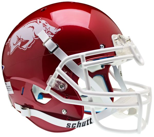 Arkansas Razorbacks Authentic College XP Football Helmet Schutt <B>Matte Crimson</B>