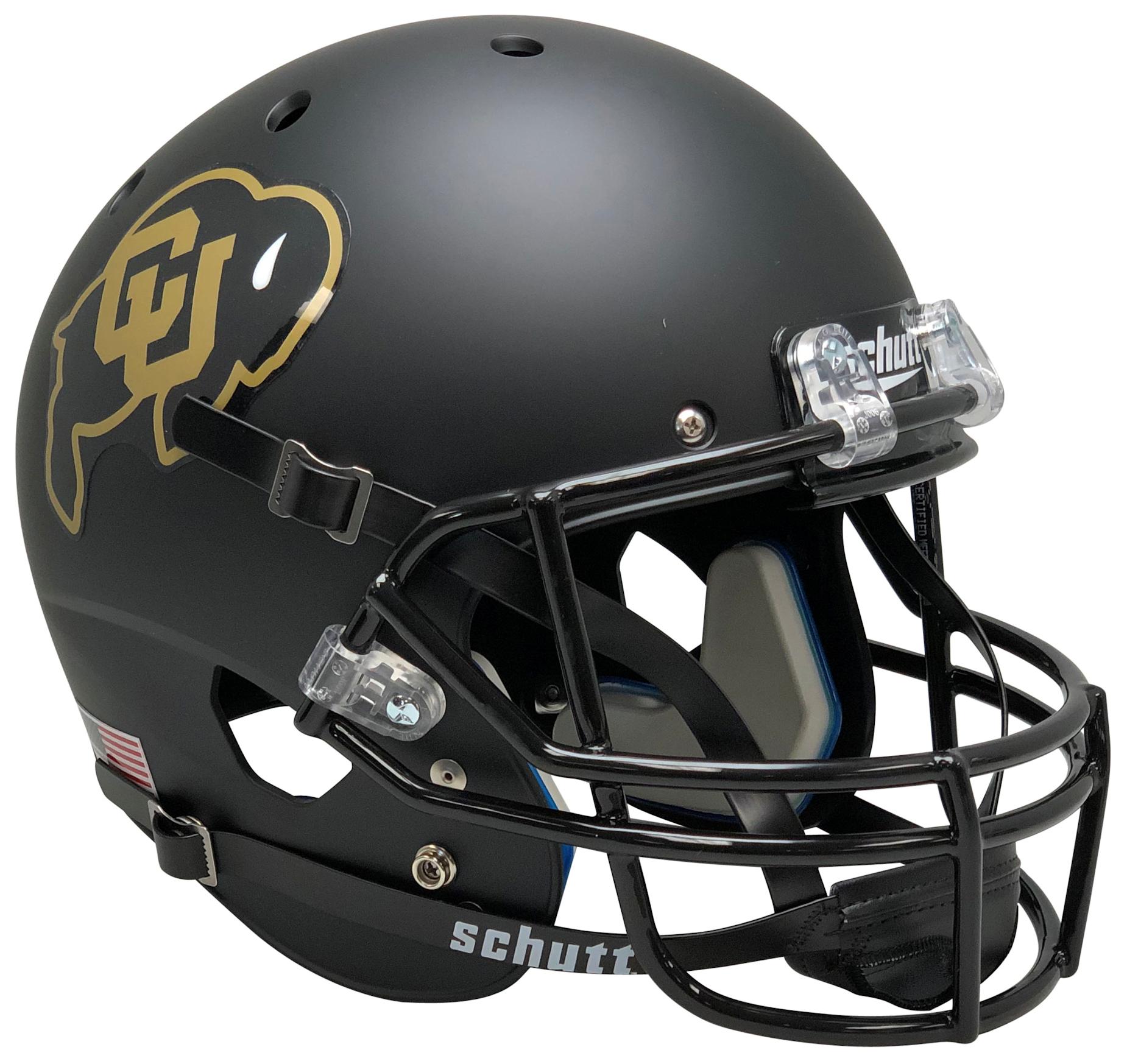 Colorado Buffaloes Full XP Replica Football Helmet Schutt <B>Black</B>