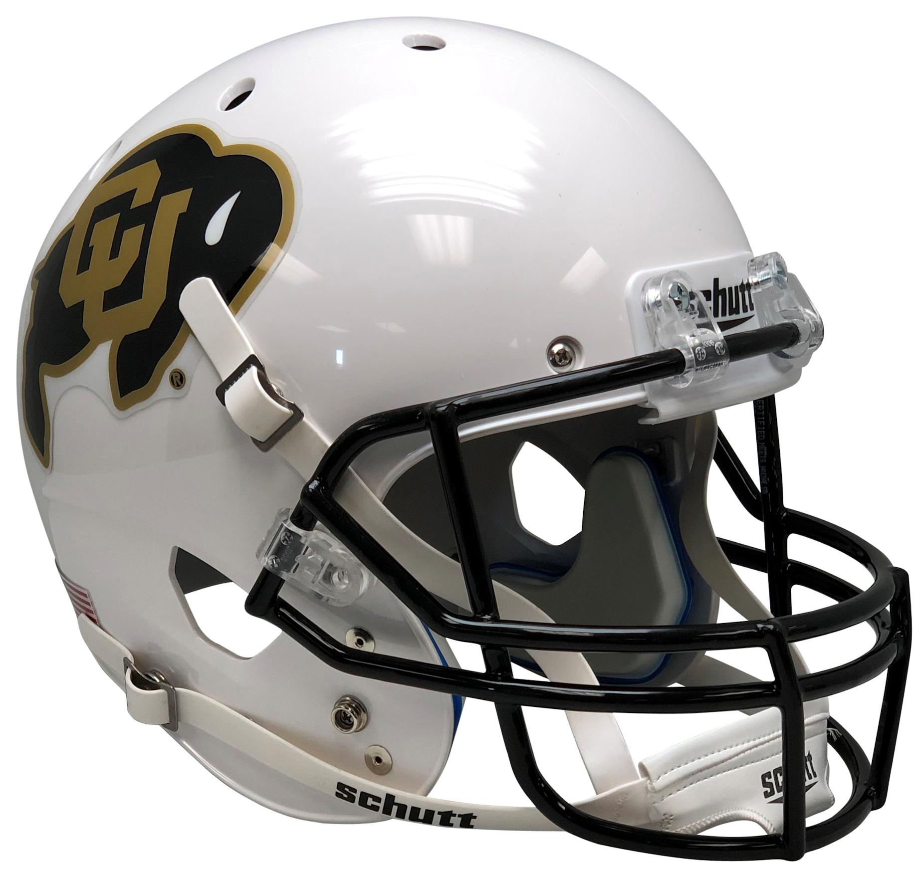 Colorado Buffaloes Full XP Replica Football Helmet Schutt <B>White</B>