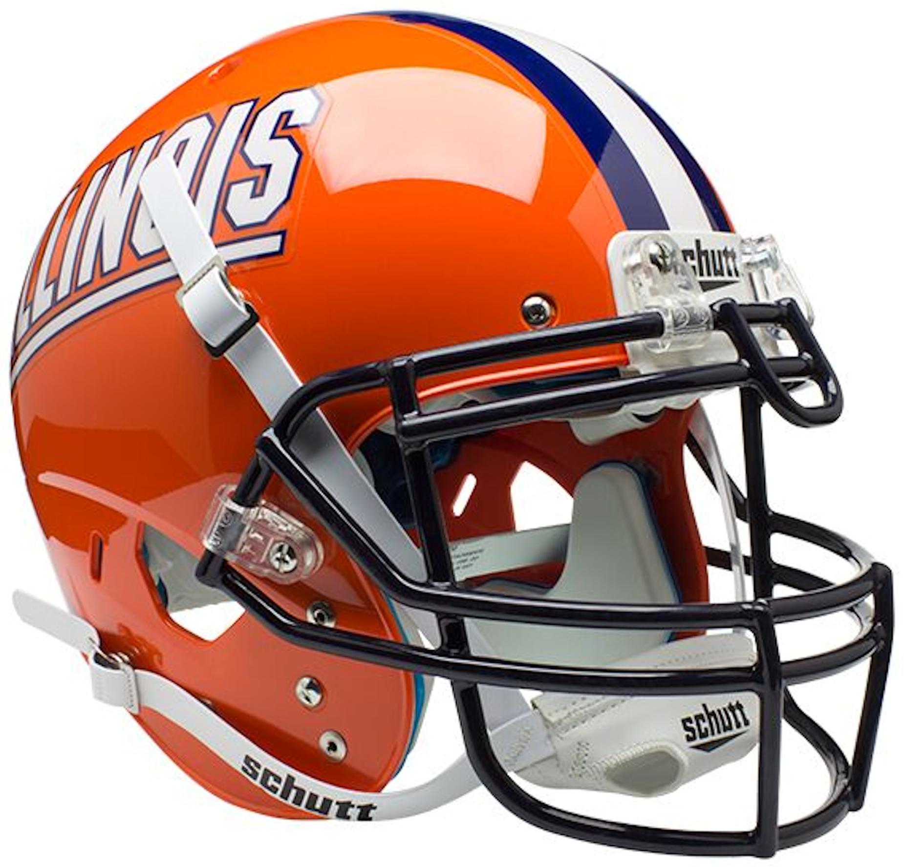 Illinois Fighting Illini Authentic College XP Football Helmet Schutt