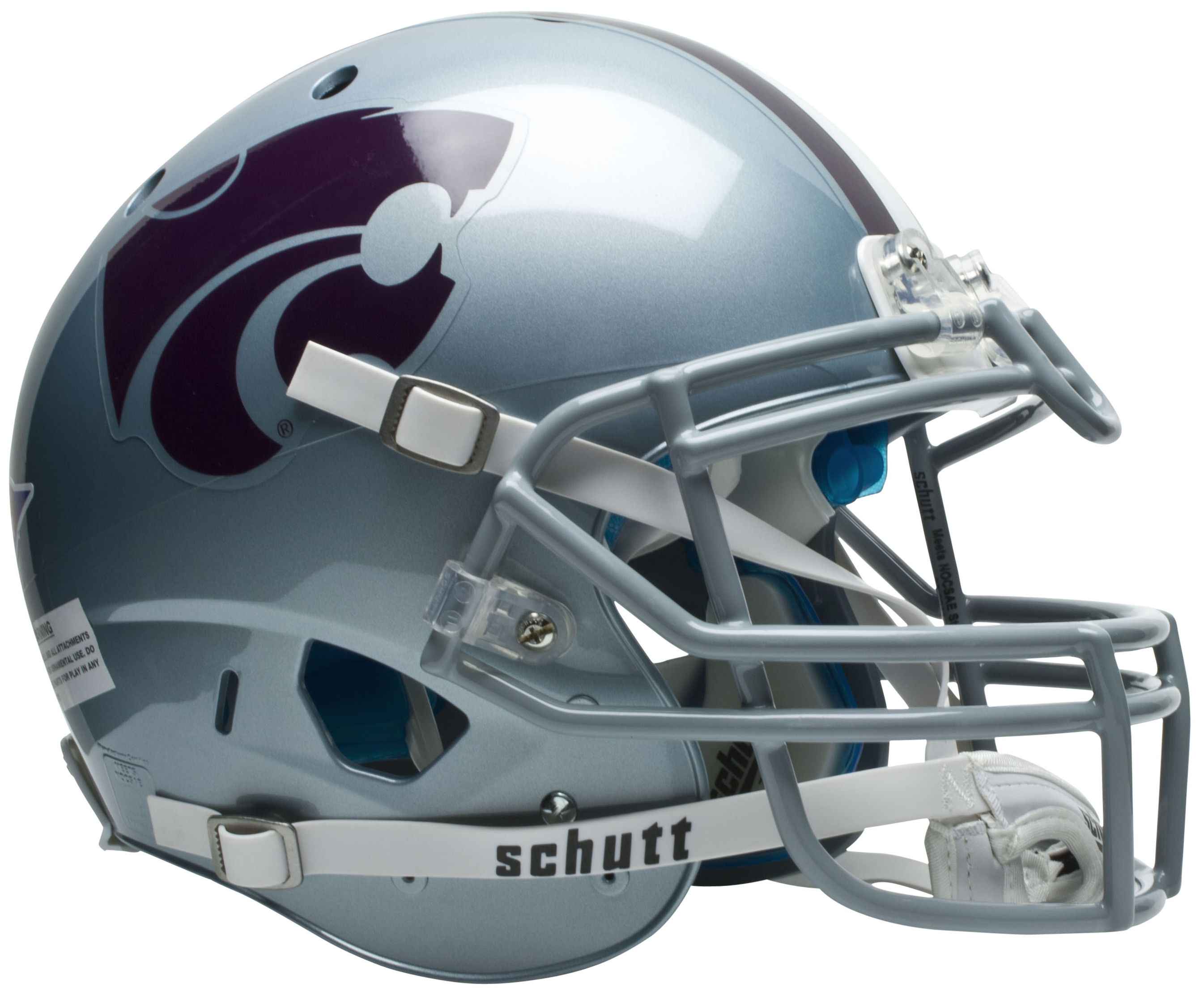 Kansas State Wildcats Authentic College XP Football Helmet Schutt