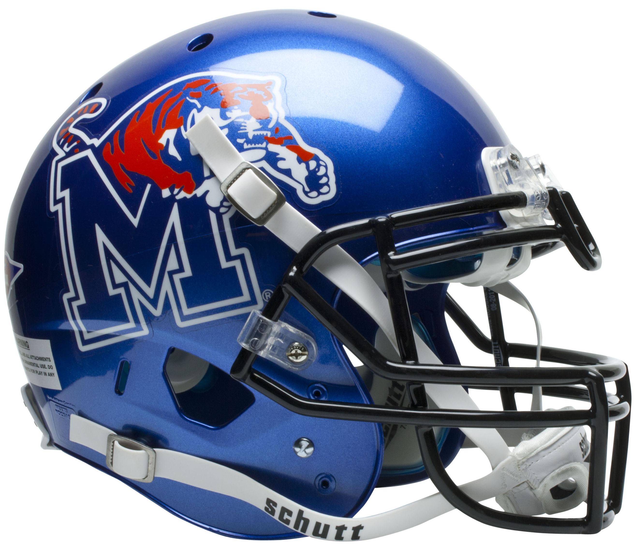 Memphis Tigers Authentic College XP Football Helmet Schutt