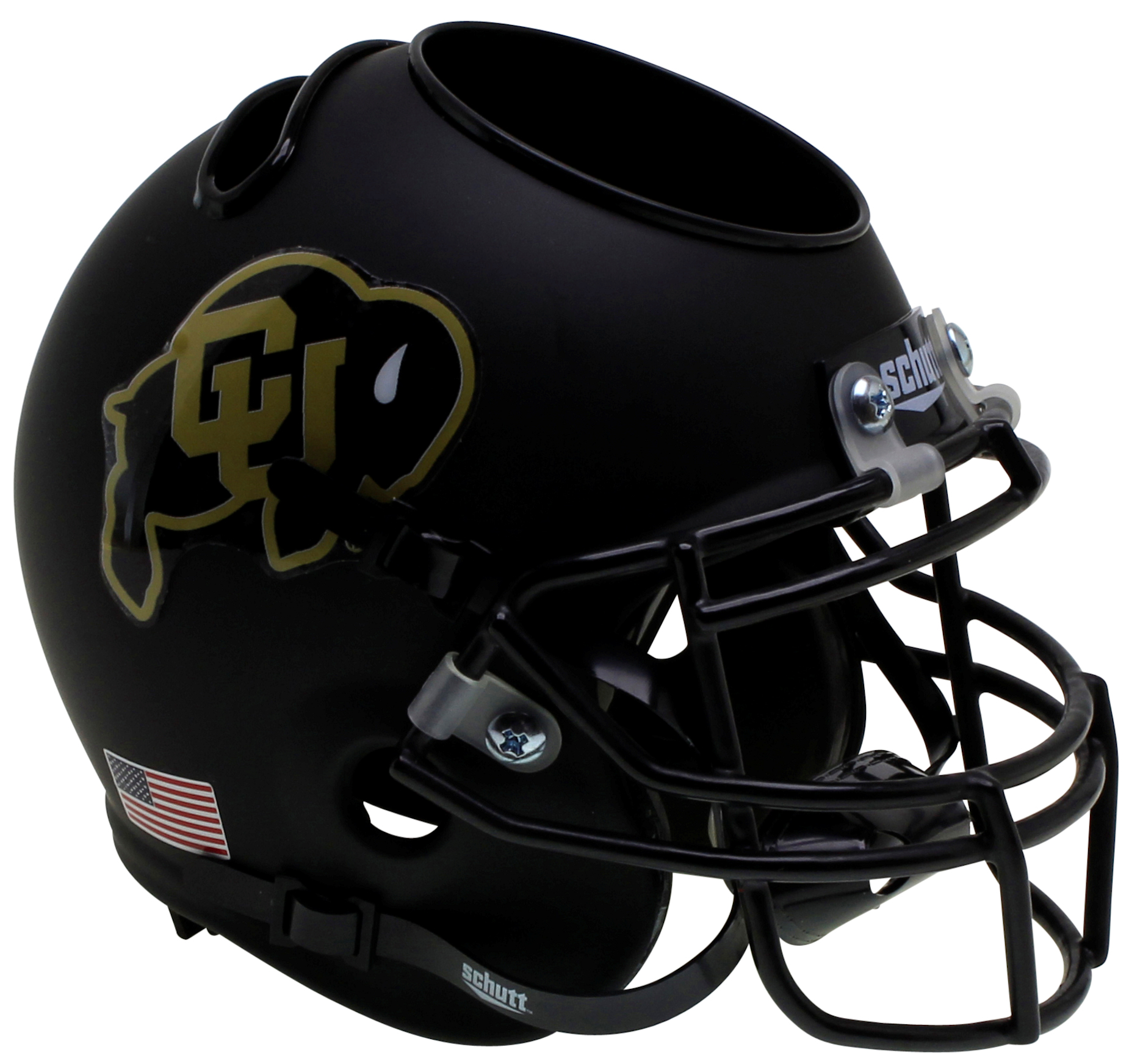 Colorado Buffaloes Miniature Football Helmet Desk Caddy <B>Black</B>