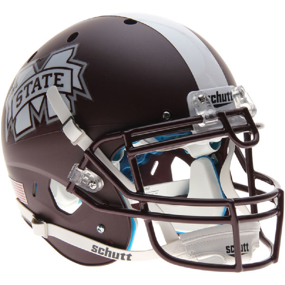 Mississippi State Bulldogs Authentic College XP Football Helmet Schutt <B>Matte Maroon</B>