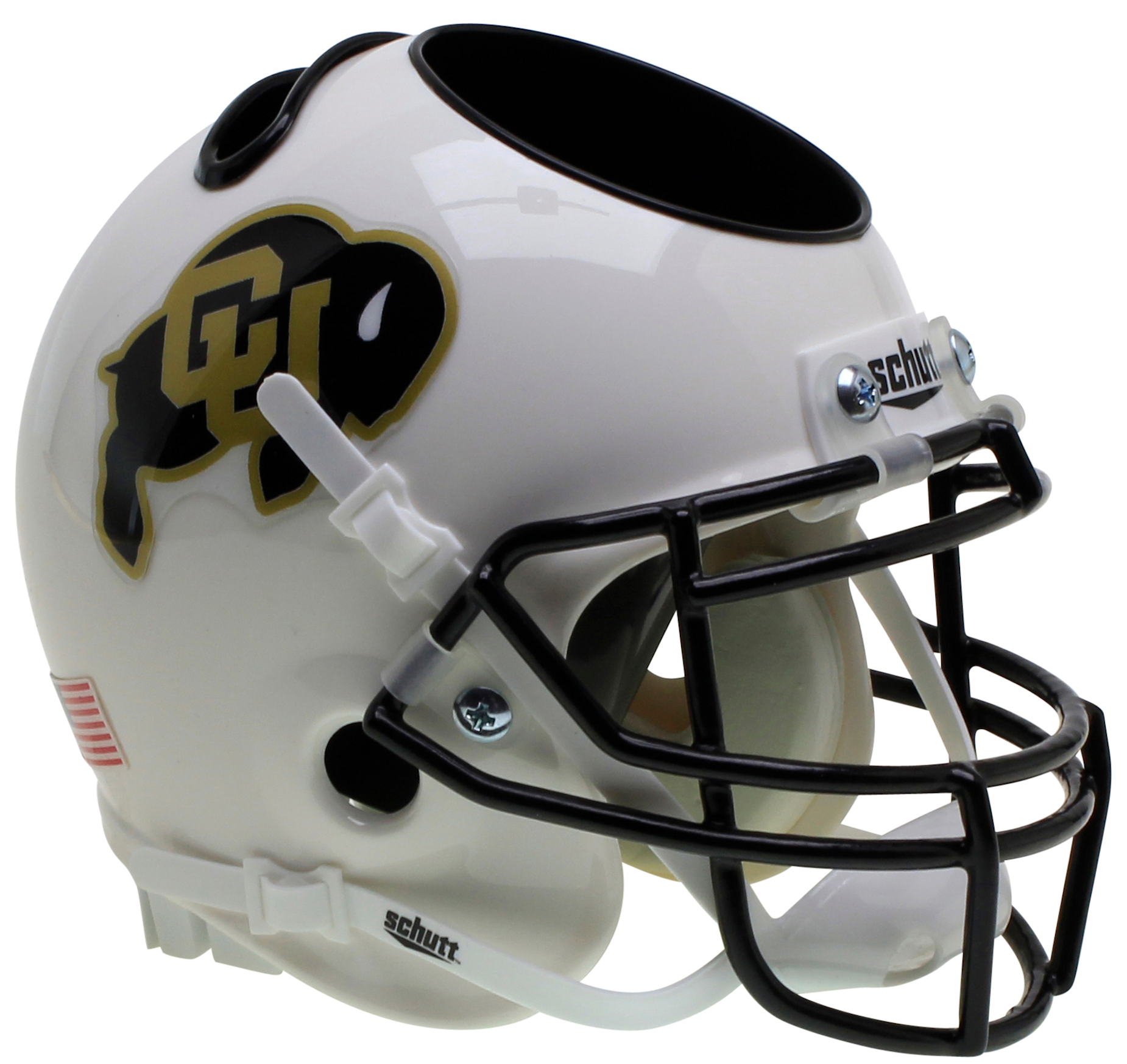 Colorado Buffaloes Miniature Football Helmet Desk Caddy <B>White</B>
