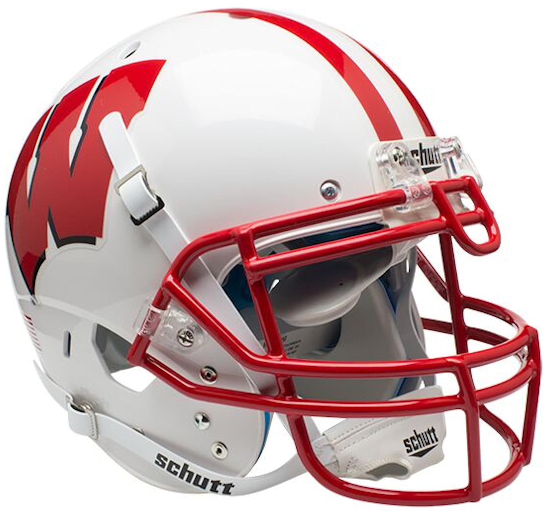 Wisconsin Badgers Authentic College XP Football Helmet Schutt