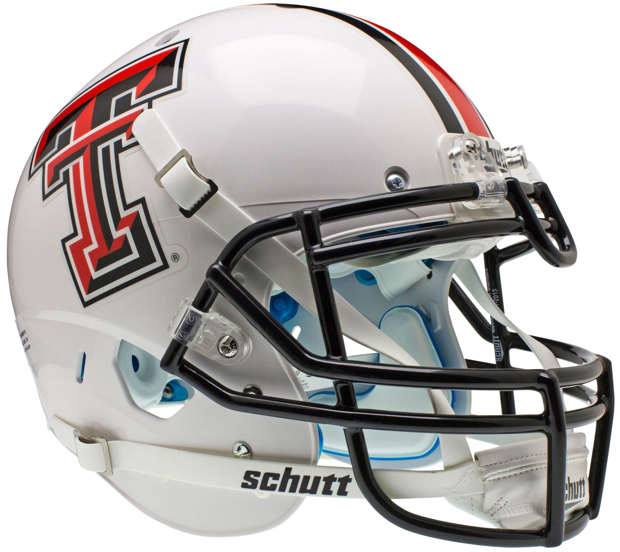 Texas Tech Red Raiders Authentic College XP Football Helmet Schutt <B>White</B>