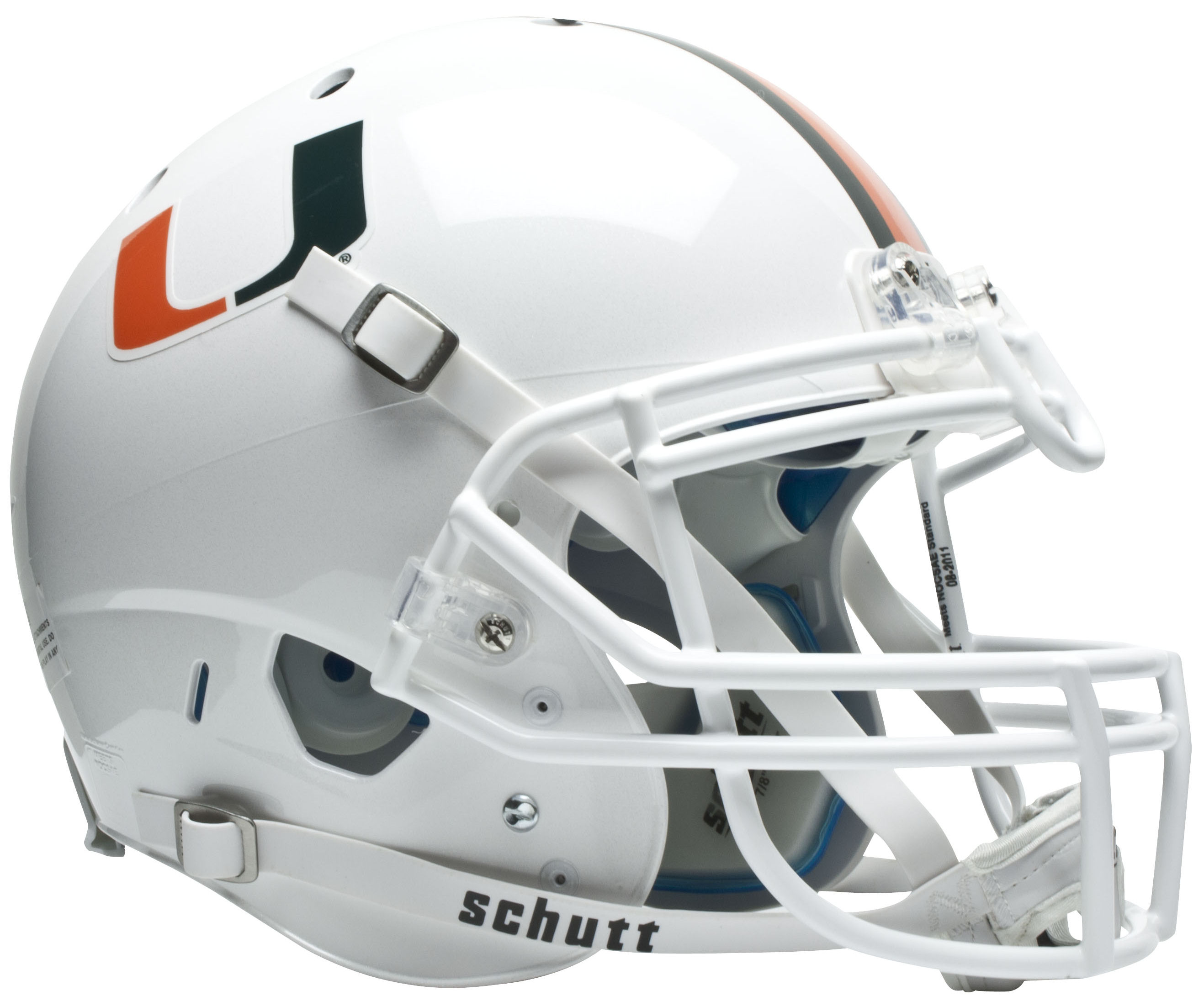 Miami Hurricanes Authentic College XP Football Helmet Schutt