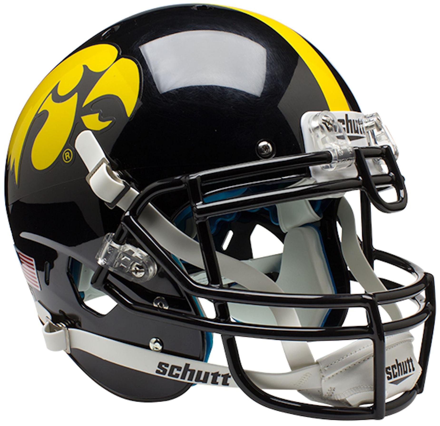 Iowa Hawkeyes Authentic College XP Football Helmet Schutt
