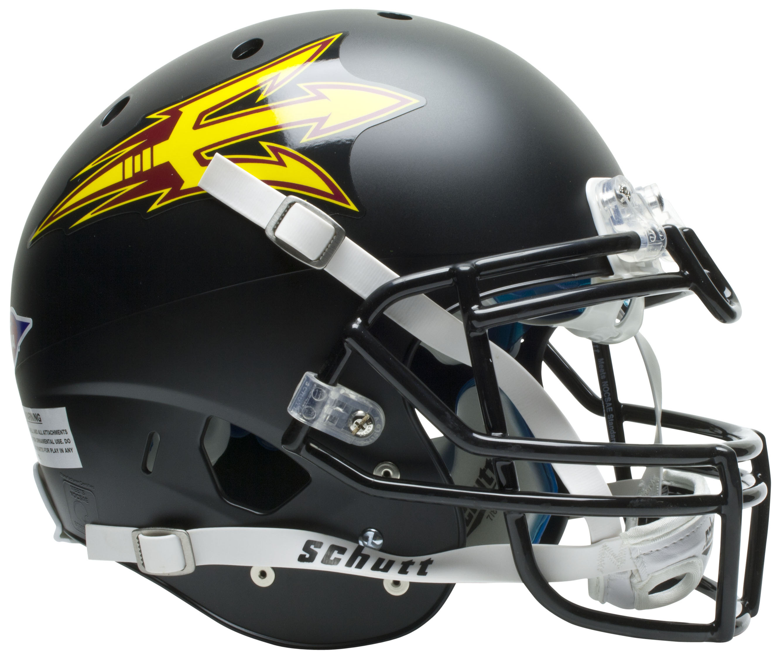 Arizona State Sun Devils Authentic College XP Football Helmet Schutt <B>Matte Black</B>