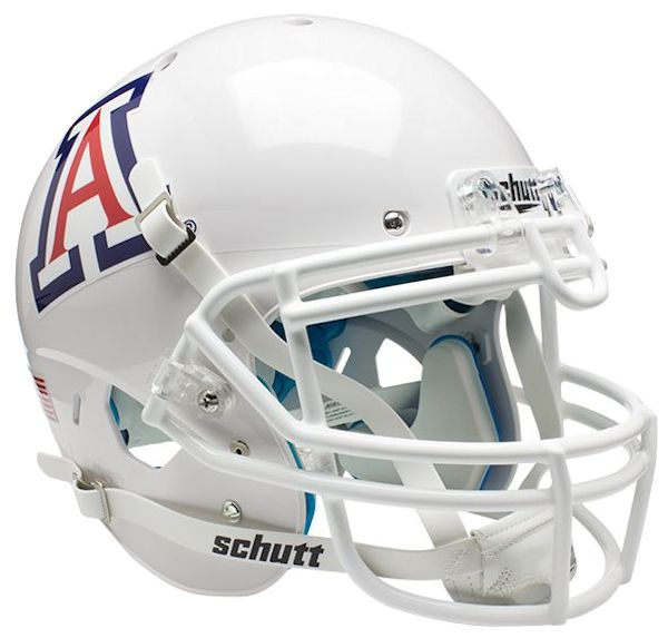 Arizona Wildcats Authentic College XP Football Helmet Schutt <B>White</B>