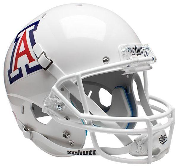 Arizona Wildcats Full XP Replica Football Helmet Schutt <B>White</B>