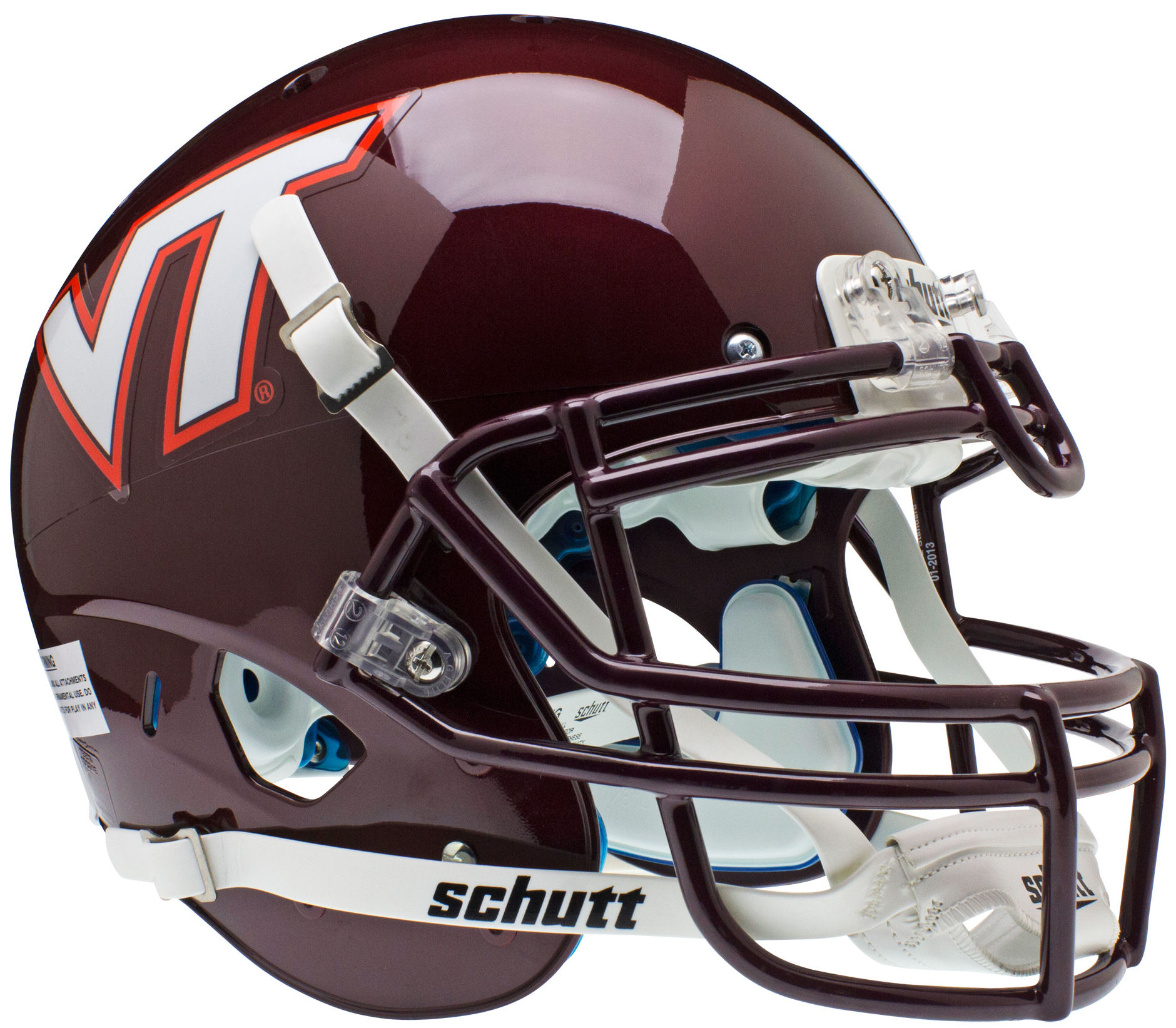 Virginia Tech Hokies Authentic College XP Football Helmet Schutt
