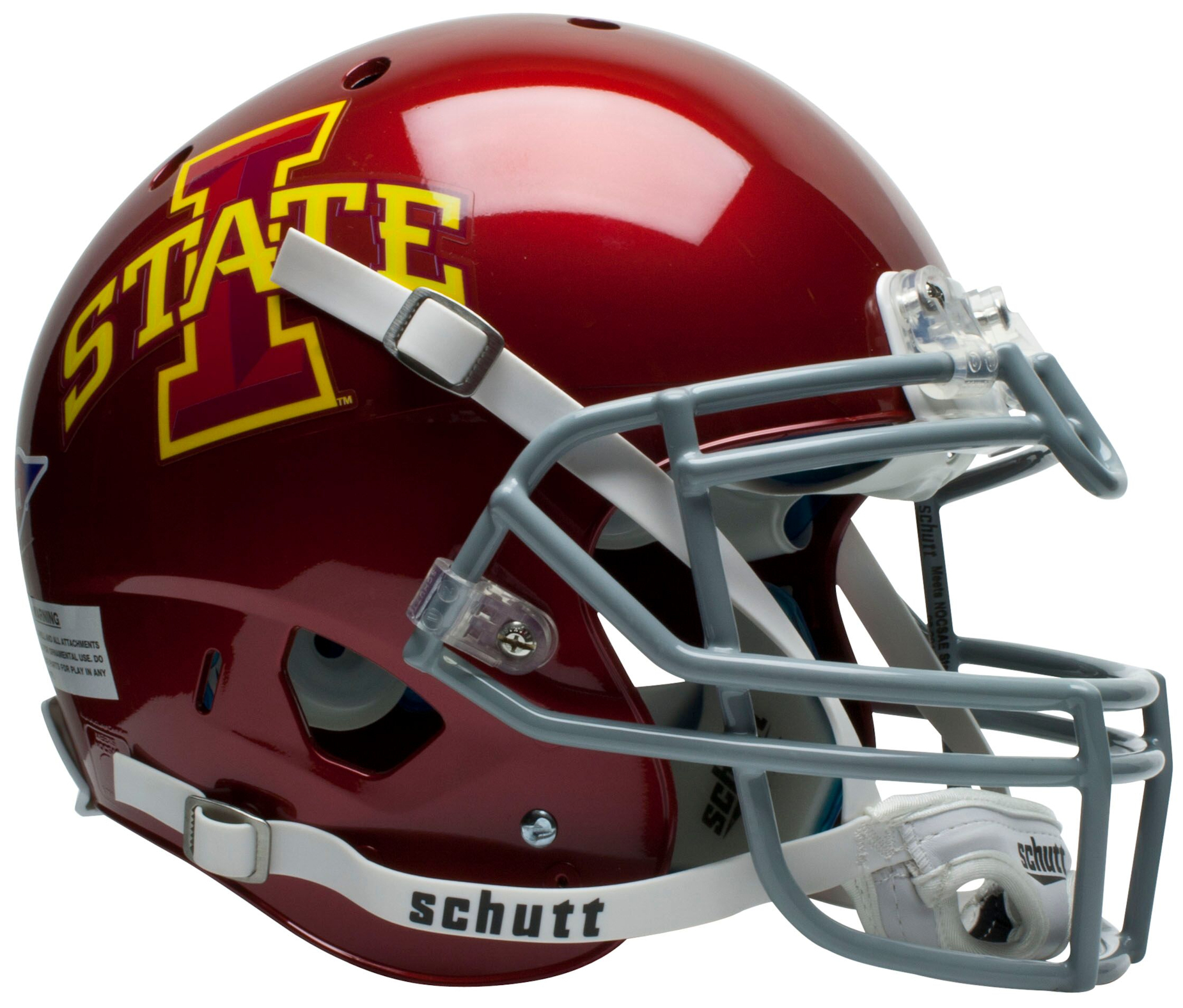 Iowa State Cyclones Authentic College XP Football Helmet Schutt