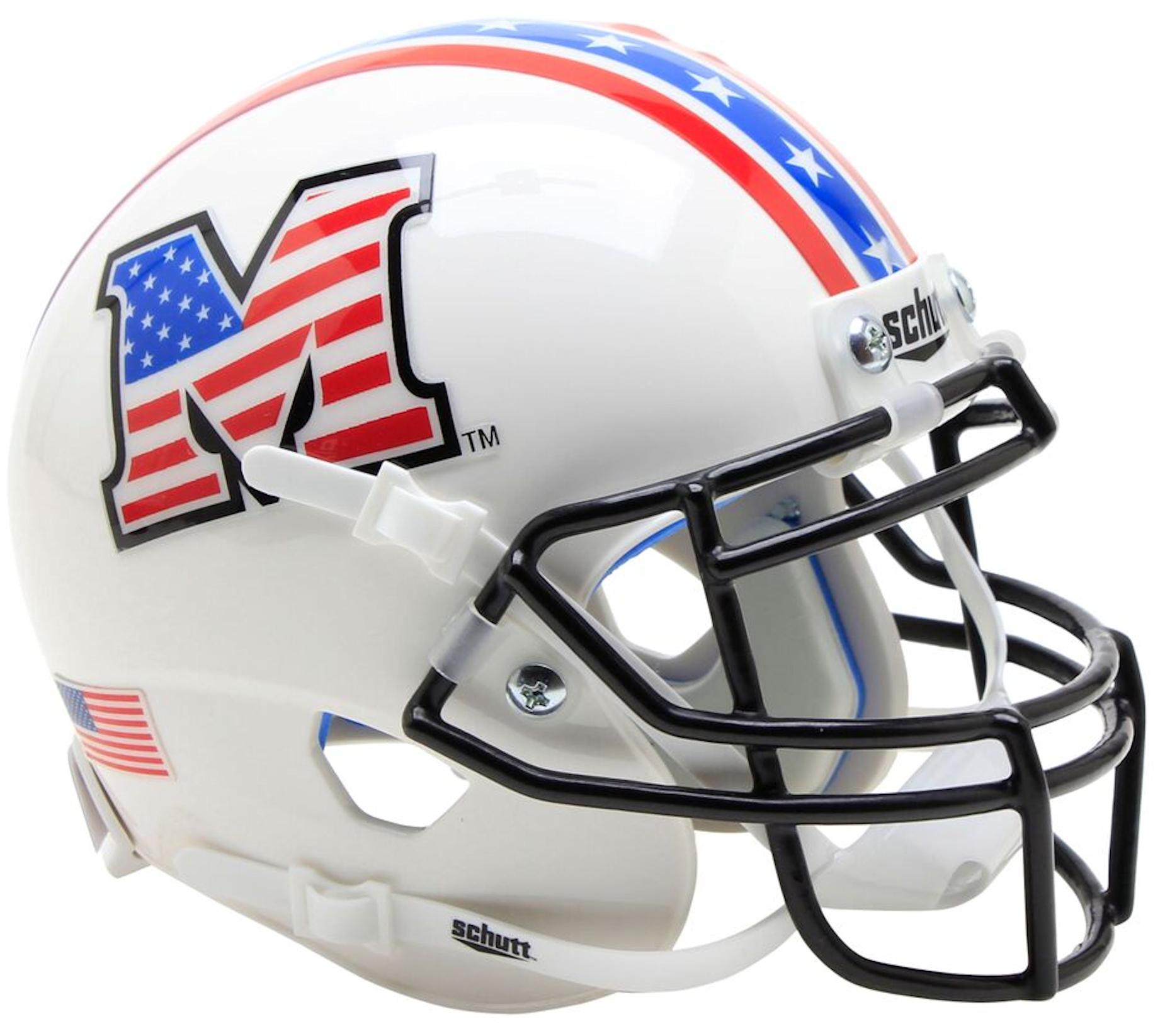 Marshall Thundering Herd Mini XP Authentic Helmet Schutt <B>Patriot</B>