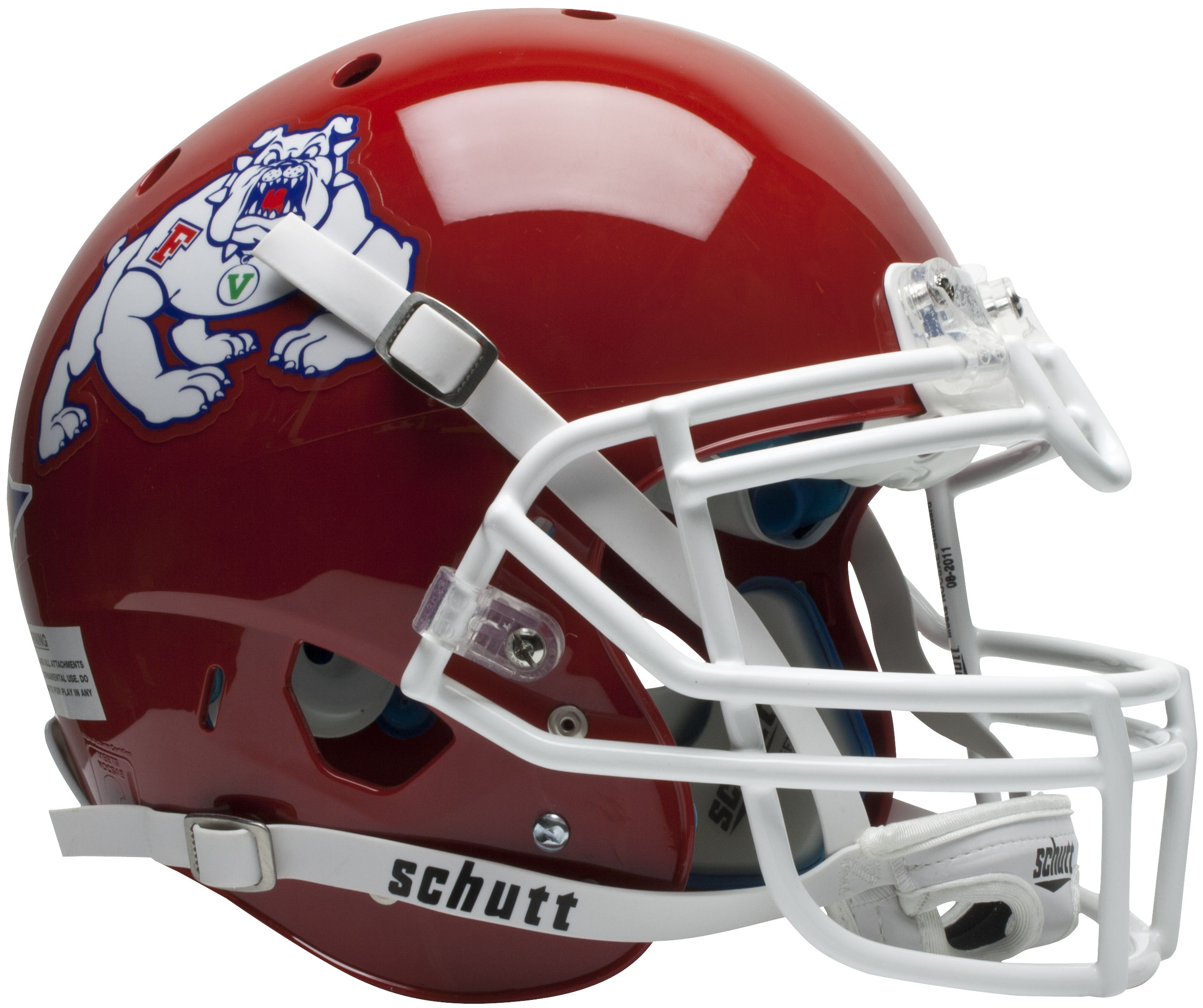 Fresno State Bulldogs Authentic College XP Football Helmet Schutt