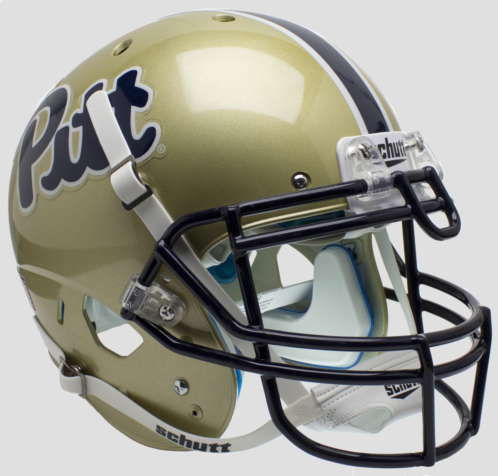 Pittsburgh Panthers Authentic College XP Football Helmet Schutt <B>Script</B>