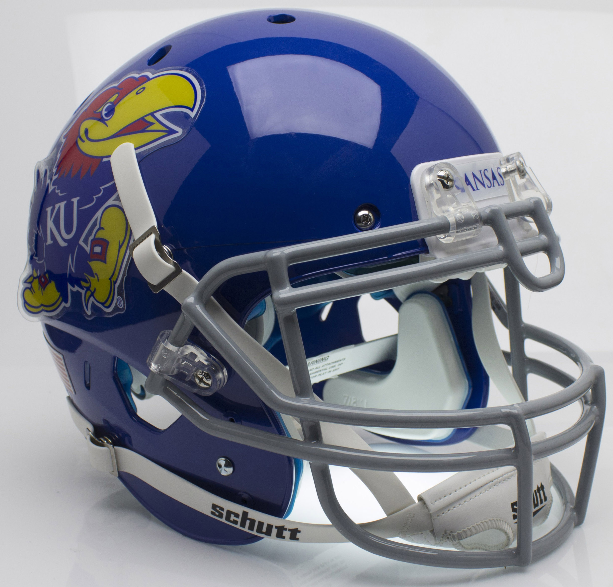 Kansas Jayhawks Authentic College XP Football Helmet Schutt