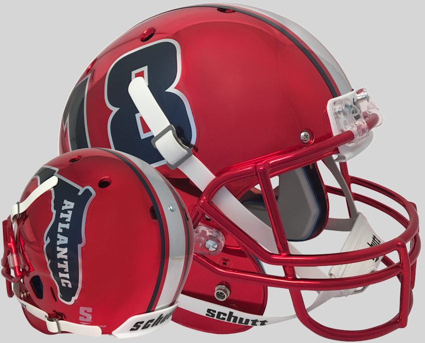 Florida Atlantic Owls Full XP Replica Football Helmet Schutt <B>Red 18</B>