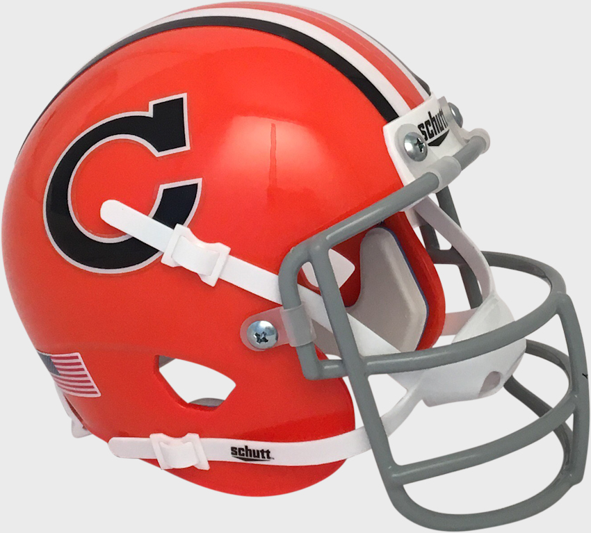Clemson Tigers 1966 Schutt Mini Authentic Throwback Helmet   Schutt mini football helmets are a perfect addition for any football fan Perfect item for autographs and collectors.  These mini football helmets are finely crafted versions of the actual competition helmets   Mini football helmet with great graphics and team decals   Realistic wire facemask with interior foam padding   Size 6(L), 4(W), 5(H) - (NOT FOR WEARING) SHIPPING UPS